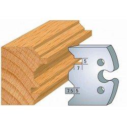 Juego de 2 cuchillas perfiladas de 50 x 5,5 mm. referencia 855.239