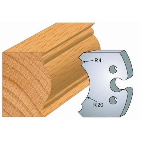 Juego de 2 cuchillas perfiladas de 50 x 5,5 mm. referencia 855.242