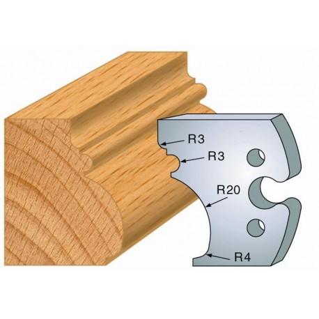 Juego de 2 cuchillas perfiladas de 50 x 5,5 mm. referencia 855.243