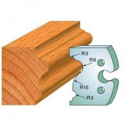 Juego de 2 cuchillas perfiladas de 50 x 5,5 mm. referencia 855.244