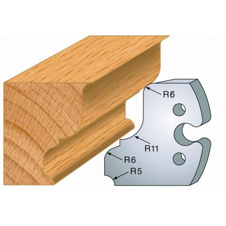 Juego de 2 cuchillas perfiladas de 50 x 5,5 mm. referencia 855.245