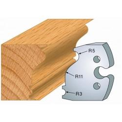 Juego de 2 cuchillas perfiladas de 50 x 5,5 mm. referencia 855.247
