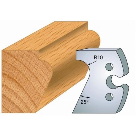 Juego de 2 cuchillas perfiladas de 50 x 5,5 mm. referencia 855.248