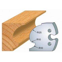 Juego de 2 cuchillas perfiladas de 50 x 5,5 mm. referencia 855.249
