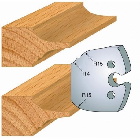 Juego de 2 cuchillas perfiladas de 50 x 5,5 mm. referencia 855.252