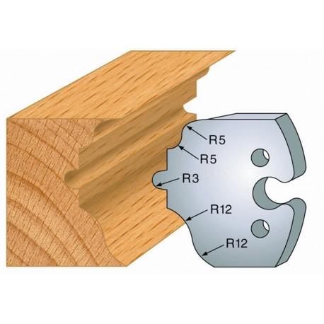 Juego de 2 cuchillas perfiladas de 50 x 5,5 mm. referencia 855.256