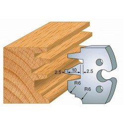 Juego de 2 cuchillas perfiladas de 50 x 5,5 mm. referencia 855.257