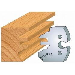 Juego de 2 cuchillas perfiladas de 50 x 5,5 mm. referencia 855.258