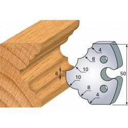 Juego de 2 cuchillas perfiladas de 50 x 5,5 mm. referencia 855.275