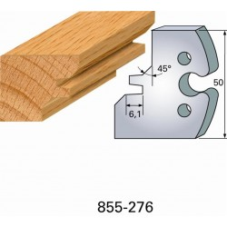 Juego de 2 cuchillas perfiladas de 50 x 5,5 mm. referencia 855.276
