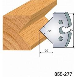 Juego de 2 cuchillas perfiladas de 50 x 5,5 mm. referencia 855.277