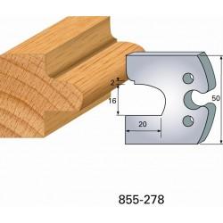 Juego de 2 cuchillas perfiladas de 50 x 5,5 mm. referencia 855.278
