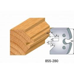Juego de 2 cuchillas perfiladas de 50 x 5,5 mm. referencia 855.280
