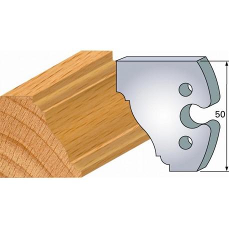 Juego de 2 cuchillas perfiladas de 50 x 5,5 mm. referencia 855.281