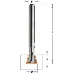 Fresa para la realización de colas 9,5 mm. con mango de 6