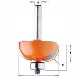 Fresa para radios de 6,35 mm. con mango 12