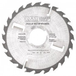 Sierra circular para maquina múltiple especial maderas húmedas de 300 x 70 mm. eje