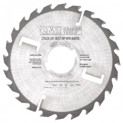 Sierra circular para maquina múltiple especial maderas húmedas de 300 x 80 mm. eje