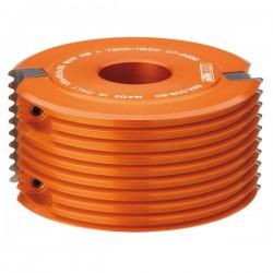 Portacuchillas para juntas paralelas de radio con 50 eje y anillo de regulación