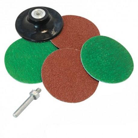 Juego accesorios de lijado para taladro de 75 mm www - Lijadora para taladro ...
