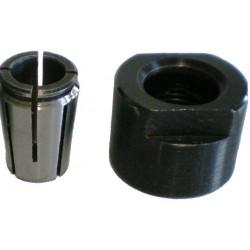 Pinza con tuerca de 6,35 mm. adaptable a fresadoras CMT8E , CMT7E y TRITON TRA001
