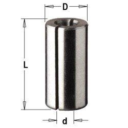Casquillo reductor 12,7 a 8 mm. para fresadora portatil
