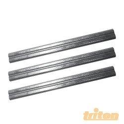 Juego de 3 cuchillas en widia reversibles de 180 mm. para cepillo eléctrico TRITON