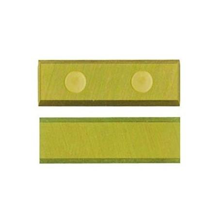 Cuchilla reversible de 20 x 5,5 x 1,1 y 4 cortes con aleación de TITANIO