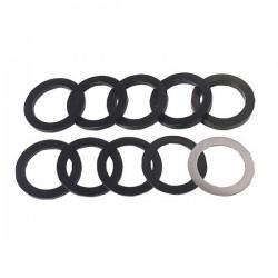 Juego de 10 anillos milimétricos de 1 a 10 mm. para tupís 50 eje