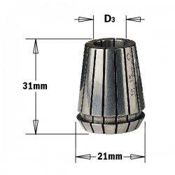 Pinza elástica ER20 de 8 mm. para portabrocas