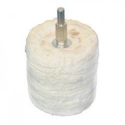 Cilindro de pulido en algodón de 50 mm. adaptable a taladro