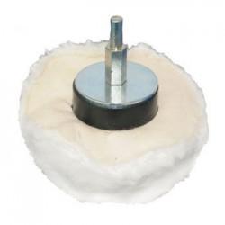 Rueda pulidora en algodón suave de 85 mm. adaptable a taladro