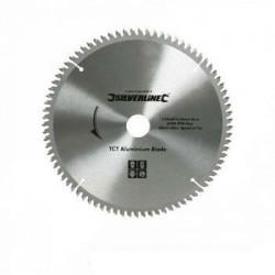 Sierra circular de widia para el corte de aluminio de 250 mm.