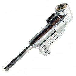 Adaptador para atornillar a 45º con sujección orientable