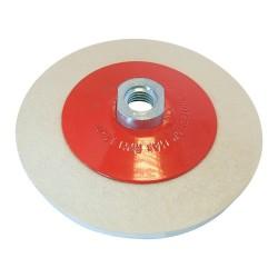 Rueda de fieltro biselada para pulido de 115 mm.