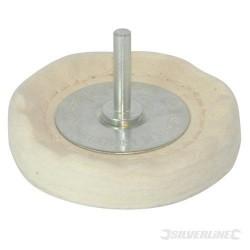 Rueda pulidora de 100 mm. adaptable a taladro para utilizar en formas irregulares
