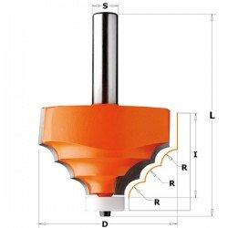 Fresa triple radio 8 mm. para Corian con mango de 12 mm.