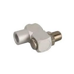 Racord neumático giratorio macho-hembra conexión 1/4