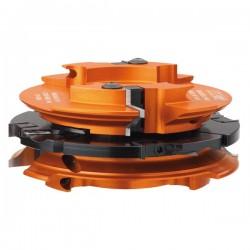Juego de cabezales de 50 mm. eje para fabricación puertas de muebles y paso