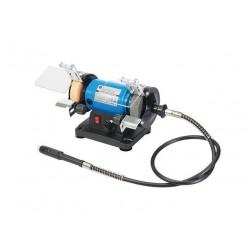 Mini esmeriladora de banco con eje flexible multifunción y velocidad variable 0-9000 r.p.m.