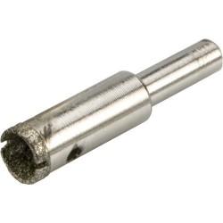 Corona diamantada para realizar agujeros en azulejos, cerámicas y vidrío de 12 mm.