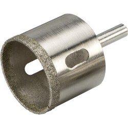 Corona perforadora diamantada para realizar agujeros en azulejos, cerámicas y vidrío de 4 mm.