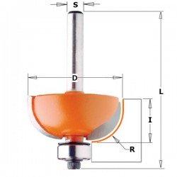 Fresa para radios de 6,35 mm. con mango 8