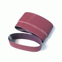 Paquete de bandas de lija en tela de 75 x 533 mm. Gr.120