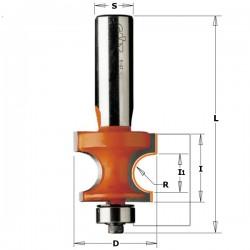 Fresa semicircular radio 3,2mediocirculorodamiento8, con rodamiento-guia y 8 mango
