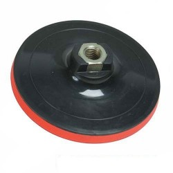 Plato caucho de 180 mm. para amoladora electrónica o pulidora con soporte Velcro