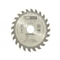 Sierra circular de widia 160 x 20 mm. eje referencia 291.160.24E