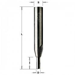 Fresa para pantógrafo 2 + 1 cortes rectos de 3 x 10 mm.