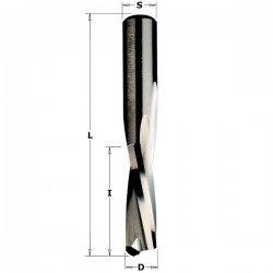 Fresa Helicoidal negativa de 6,35 x 25,4 largo corte y mango 6,35