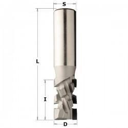 Fresa de corte axial 20º en diamante de 20 x 25 x 85 mm.